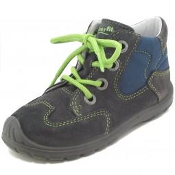 Superfit Softtippo Kinder Schnürschuhe grau/blau/grün (stone kombi)
