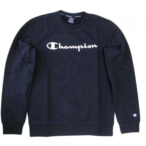Champion Crewneck Sweatshirt Herren Rundhalspullover schwarz (nbk)