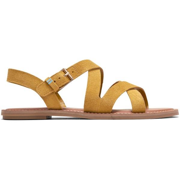 Toms Sicily Damen Riemen-Sandale amber gold suede