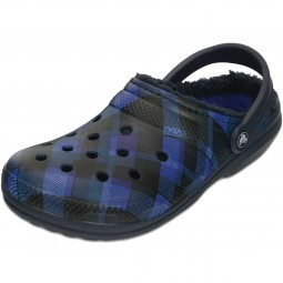 Crocs Classic Lined Graphic Unisex Clogs navy/cerulean blue