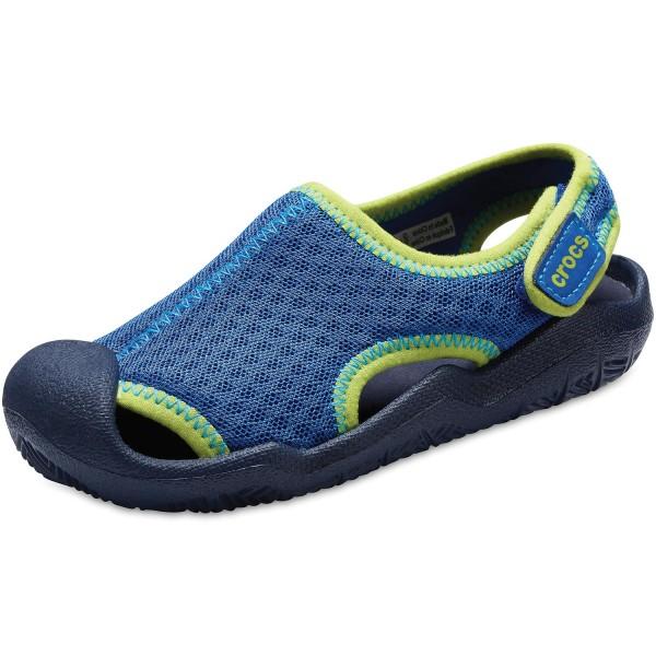 promo code ebfd9 402bd Crocs Swiftwater Sandal Kids Child Aqua Shoes blue jean/navy