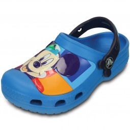 Crocs Mickey Colorblock Kinder Clogs blau (ocean/nautical navy)