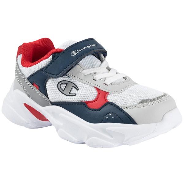 Champion Philly Kinder Sneaker weiß/dunkelblau/rot (wht)