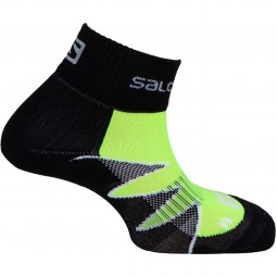 Salomon Citytrail Unisex Nachtlauf Socken fluo yellow/black/white
