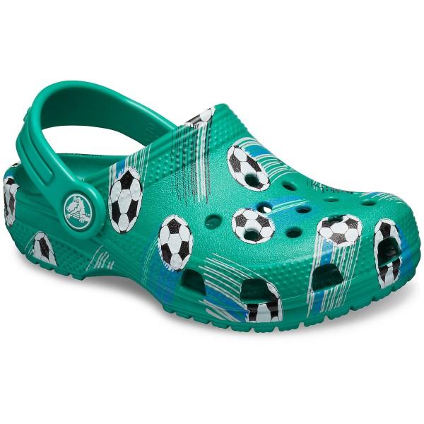 Crocs Classic Sport Ball Kids Kinder Clogs grün (deep green)