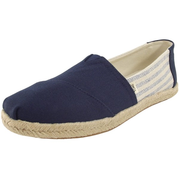 Toms League Stripes Wm Damen Espadrilles dunkelblau/cremeweiß (navy ivy)