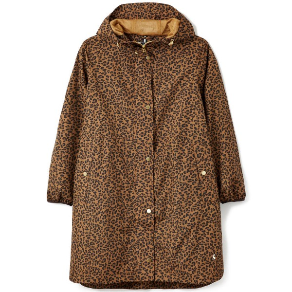 Tom Joule Waybridge Waterproof Damen Regenmantel Gelbbraun Leopard