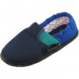 Giesswein Aichach Unisex Baumwoll-Slipper blau/dunkelblau