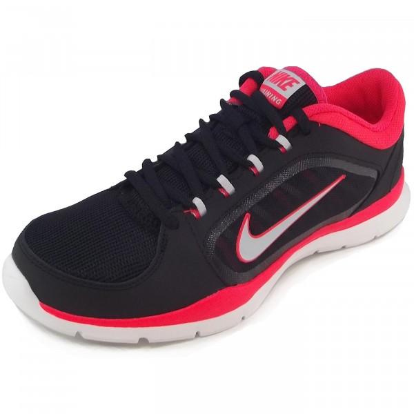 info for 76c97 2153b Nike Flex Trainer 4 Women Damen Trainingsschuhe schwarz rot (black prpltn)