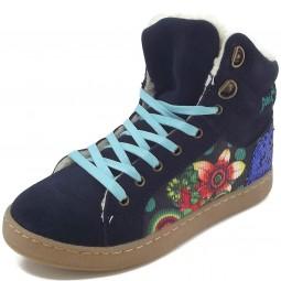 Desigual Mini Luxor 2 Mädchen Winter-Sneakers dunkelblau (medieval blue)
