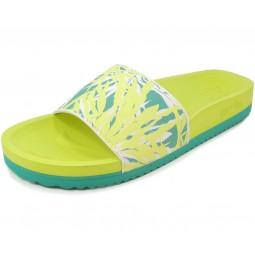 flip*flop Pool Seaweed Damen Pantolette gelb/türkis (waterfall/lemon)