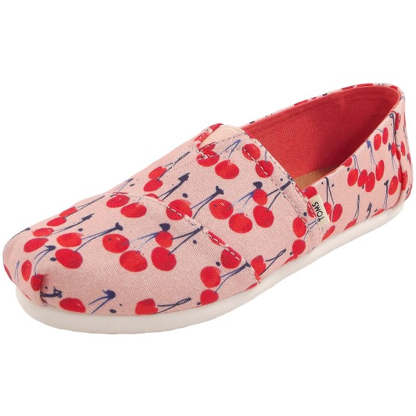 Toms Classic Cherie Print Youth Mädchen Espadrilles rosa (coral pink/cherry)