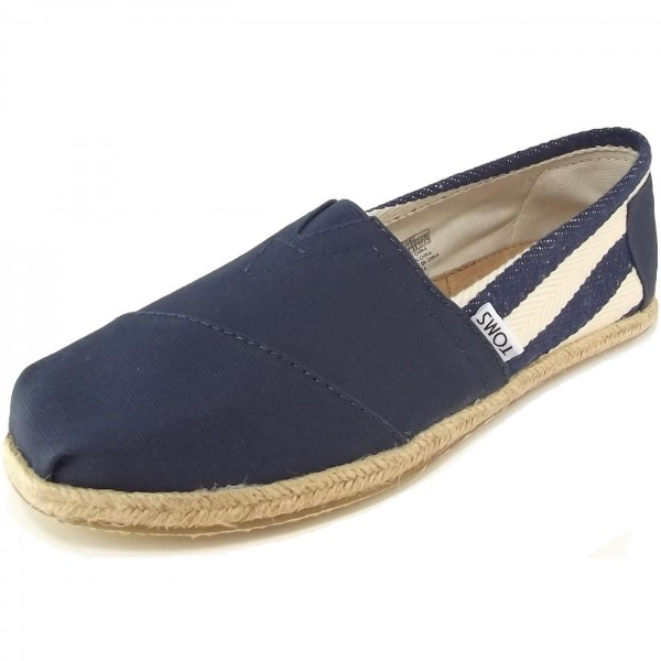 Toms Classic University Wm Damen Espadrilles dunkelblau/weiß (navy stripe)
