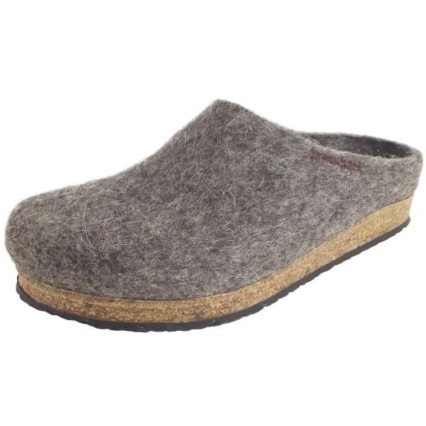 Stegmann 108 Tiroler Steinschaf Unisex Wollfilz-Pantoffeln grau
