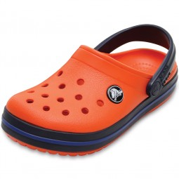 Crocs Crocband Kids Kinder Clogs orange (tangerine/navy)