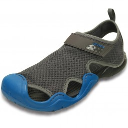 Crocs Swiftwater Sandal Herren Aqua-Schuhe grau/blau (graphite/ultramarine)