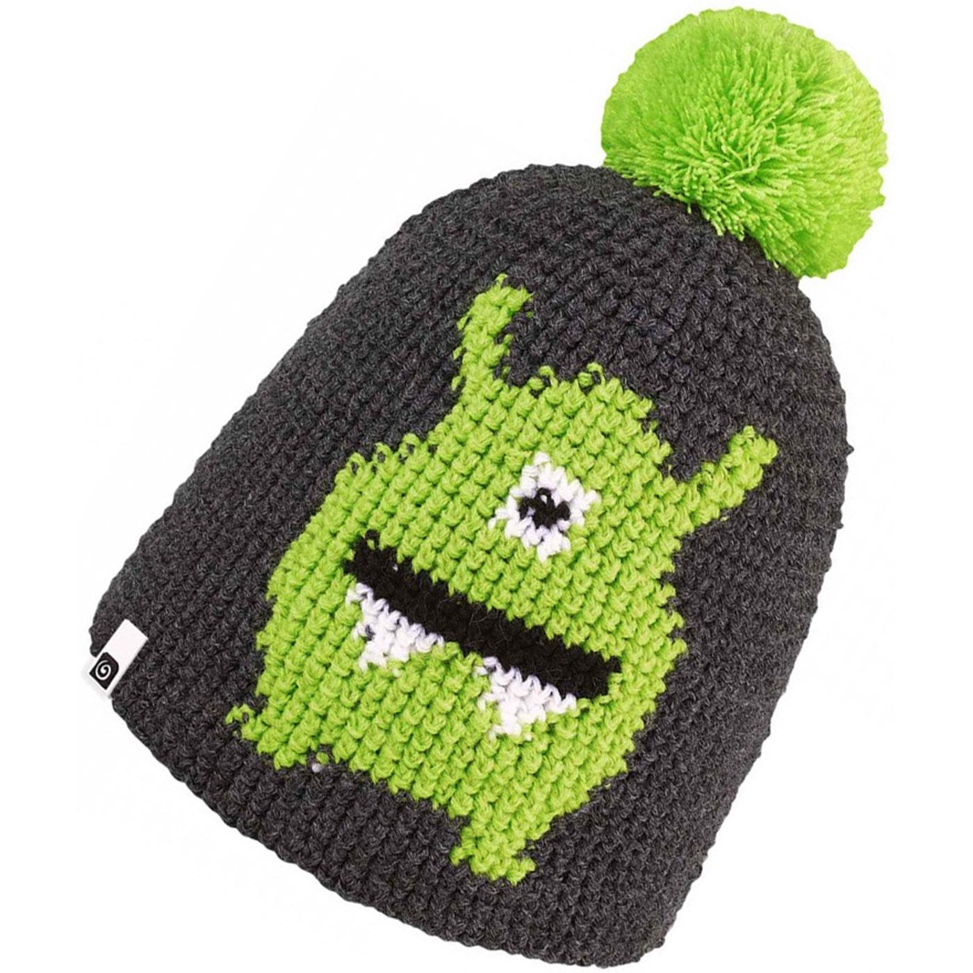 846eace5cd1 Brekka Alien Pon Child Winter Hat grey green