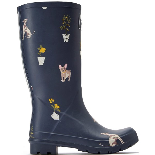 Tom Joule Roll Up Welly Damen Aufroll-Gummistiefel grey dogs
