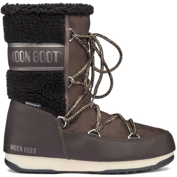 Moon Boot Monaco Wool Mid WP Damen Winterstiefel Dark Brown