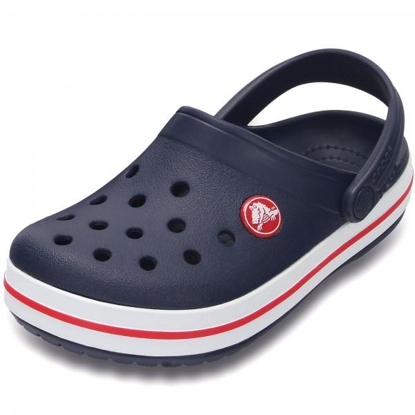 Crocs Crocband Kids Kinder Clogs dunkelblau/weiss (navy/red)