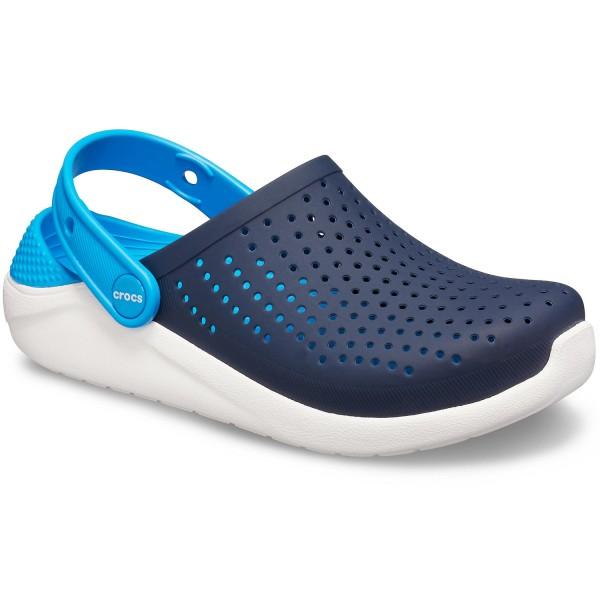 Crocs Literide Kids Kinder Soft Clogs dunkelblau/weiß (navy/white)