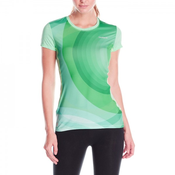Desigual Florida Damen Sport T-Shirt türkis (beach glass)