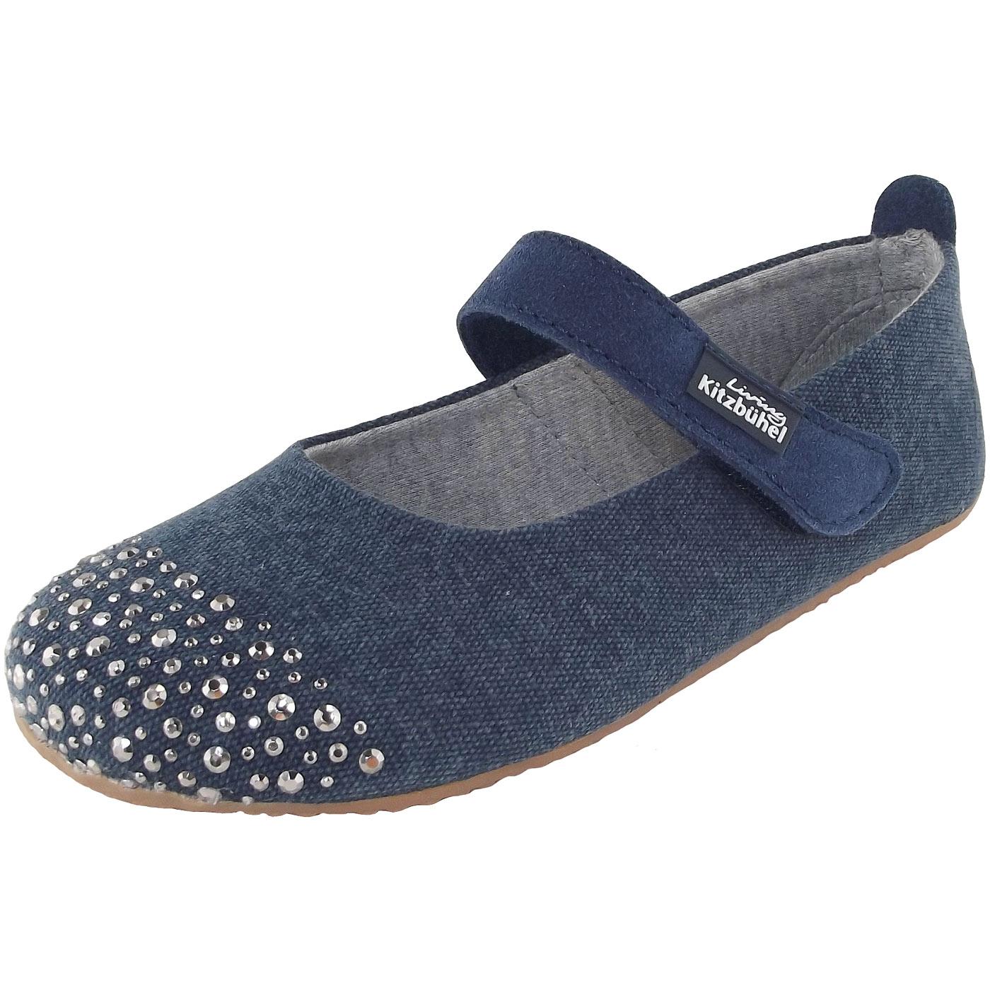 Living Kitzbühel 3338 Ballerina Girl Slippers blueglimmer