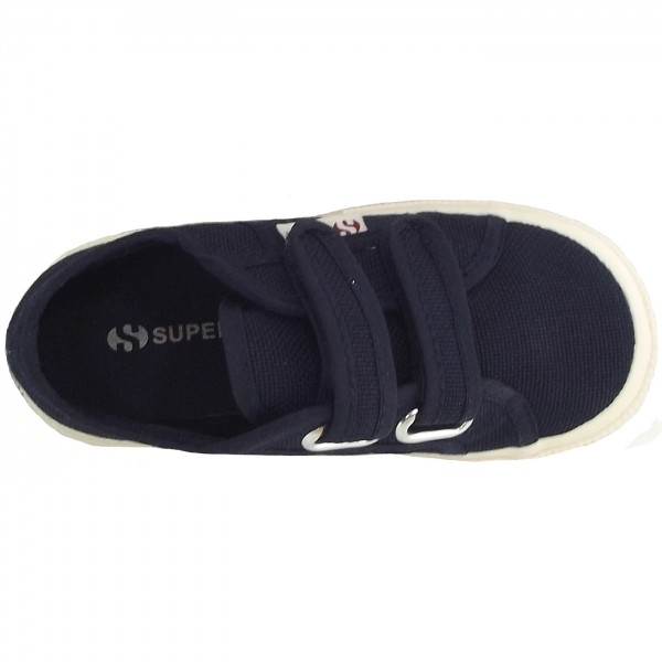 Superga 2750 Junior Velcro Classic Kleinkinder Sneaker dunkelblau (navy) 3