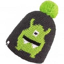 Brekka Alien Pon Kinder Wintermütze grau/grün