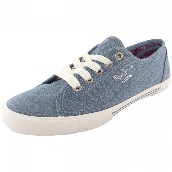Pepe Jeans Aberlady Eighty Damen Sneakers hellblau (azzurro)
