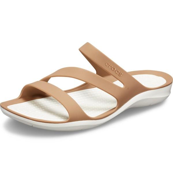 Crocs Swiftwater Sandal W Damen Pantoletten bronze/weiß (bronze/oyster)