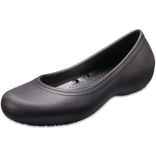 Crocs Crocs at Work Flat Damen Arbeits-Ballerina schwarz (black)