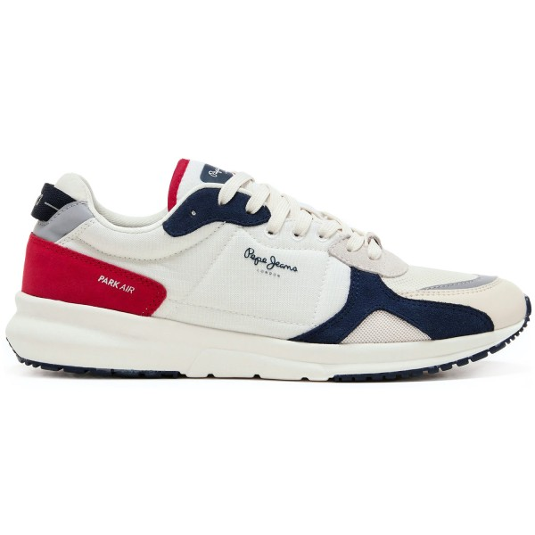 Pepe Jeans Park Air 0.2 Herren Retro-Sneaker Cremeweiß (Off White)