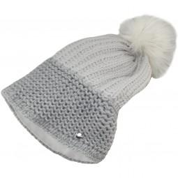 Eisbär Sweet OS Lux Damen Strickmütze grau/weiß