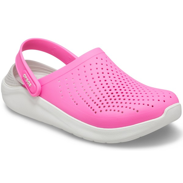Crocs Literide Damen Soft Clogs pink/weiß (electric pink/almost white)