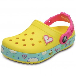 Crocs Hello Kitty Plane Clog Mädchen Clogs gelb (sunshine)