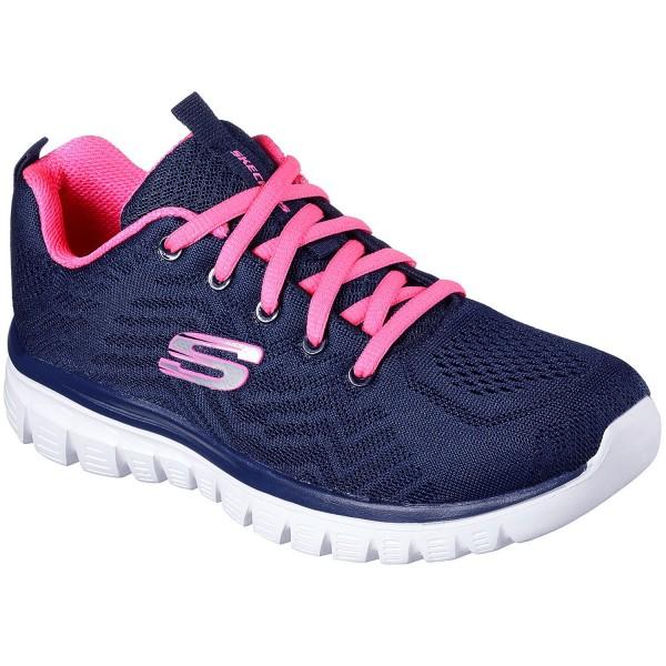 Skechers Graceful Get Connected Damen Trainingssneaker Navy/Hot Pink