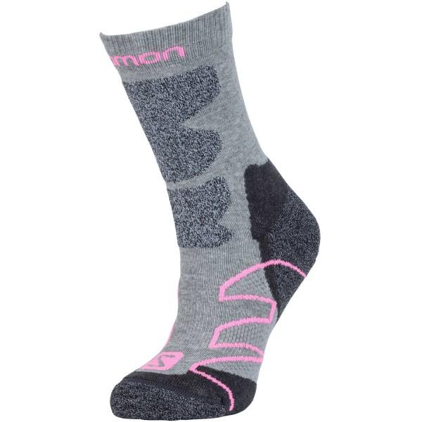 Salomon Performance Pro Damen Outdoor Socken grey/pink