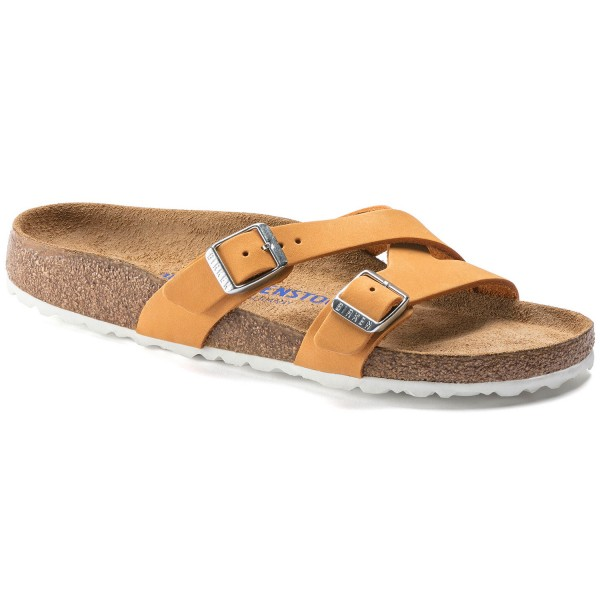 Birkenstock Yao Balance Weichbettung Damen Sandale Apricot