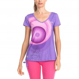 Desigual Rosa Damen Sport T-Shirt violett (purple opulence)