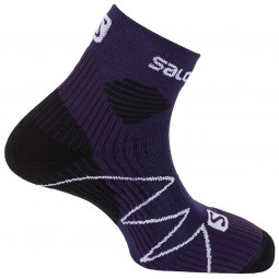 Salomon Fast Wings Unisex Trailrunning Socken nightshade/blush