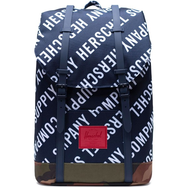 Herschel Retreat Unisex Rucksack roll call peacoat/woodland camo