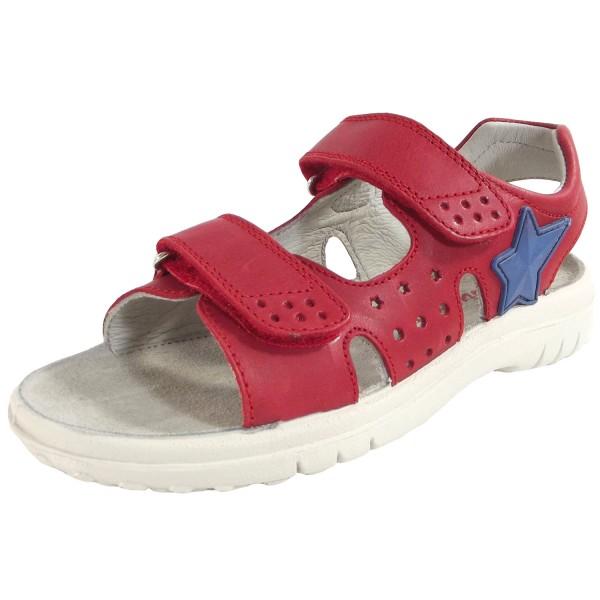 Naturino Dock Kinder Leder-Sandale rot (rosso)