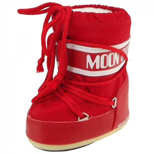 Moon Boot by Tecnica Mini Nylon Kleinkinder Moonboots rot
