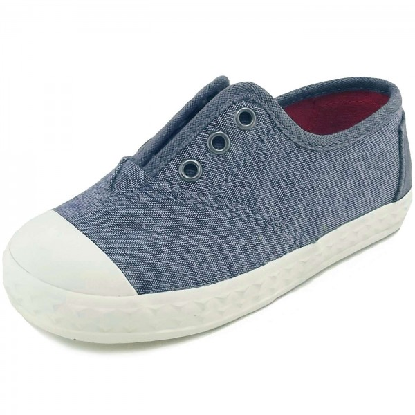 Toms Zuma Chambray Kleinkinder Slipper blau (blue multi speckle)
