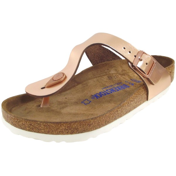 Birkenstock Gizeh Soft Footbed Women Thong Sandal metallic copper