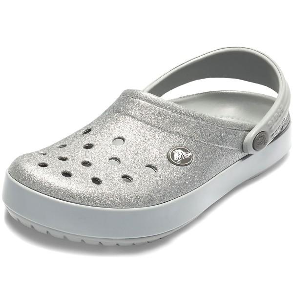 Crocs Glitter Clogs Silver Crocband Women nqCC5gSrwY