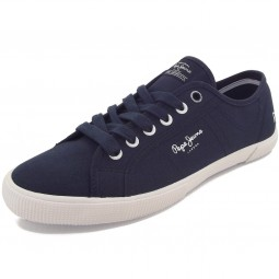 Pepe Jeans Aberman Basic Herren Sneaker dunkelblau (sailor)
