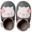Bobux Grey Kitten Baby Krabbelschuhe grau