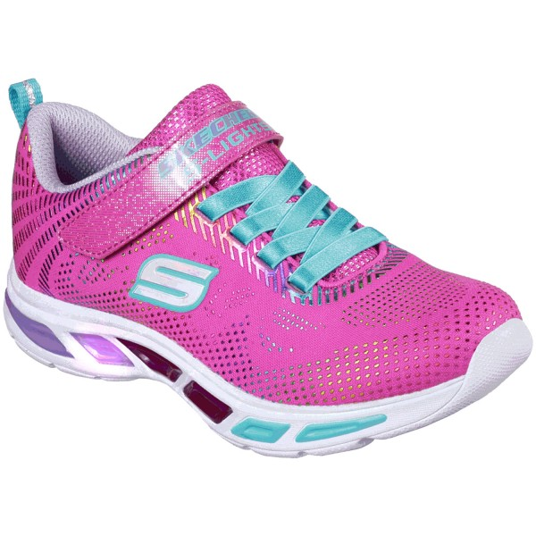 Skechers S Lights Litebeams Gleam N Dream Mädchen Leucht Sneaker neon/pink/multi